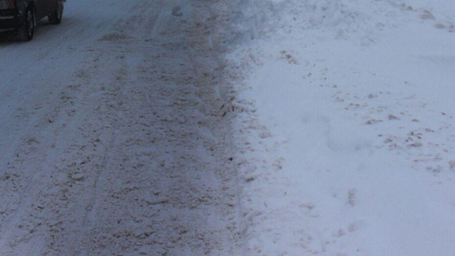 Полиция: участковый в Россоши сбил девушку из-за неубранного снега