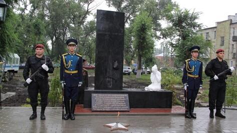 В Семилуках открыли памятник «Памяти павших во имя живых»