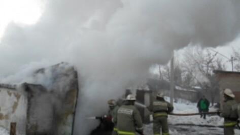 В Центре Павловска сгорел гараж вместе с автомобилем