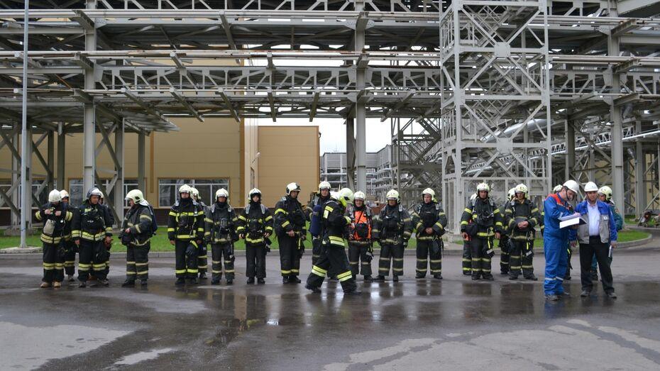 Оперативный персонал Новоронежской АЭС тушил условный пожар для отработки навыков взаимодействия