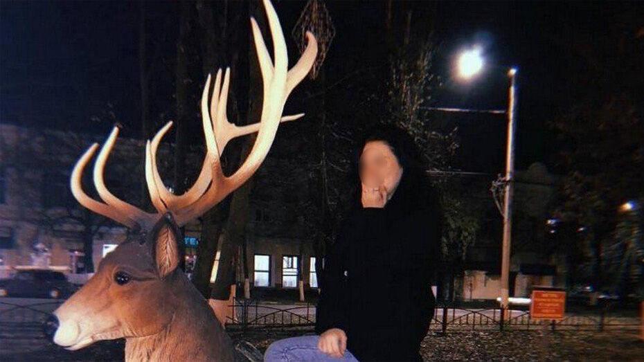 Борисоглебцев возмутило фото неизвестной девушки на декоративном олене в центральном сквере