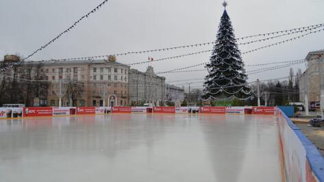 Демонтаж катка на площади Ленина в Воронеже начали раньше обычного