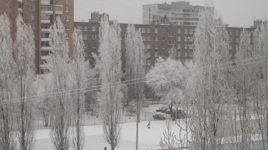 Морозы накроют Воронеж постепенно