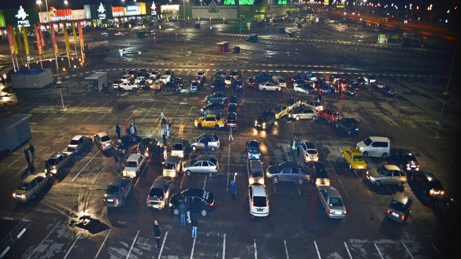 Под Воронежем жених организовал автофлешмоб из 90 машин ради любимой