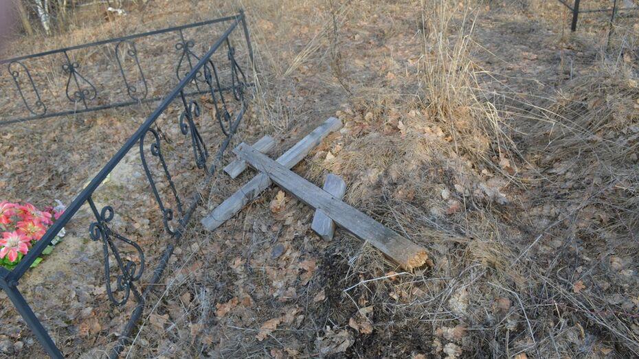 На кладбище в Рамони вандалы спилили несколько крестов на могилах