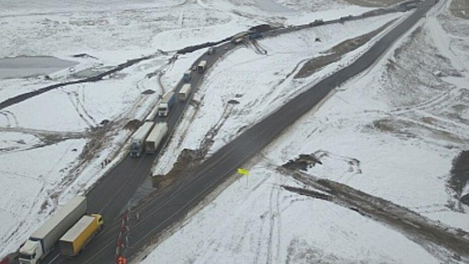 Движение транспорта на границе Тамбовской и Воронежской областей изменят из-за оползня