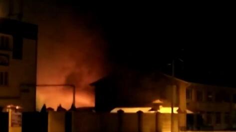 Пожар в бане на Холмистой в Воронеже попал на видео