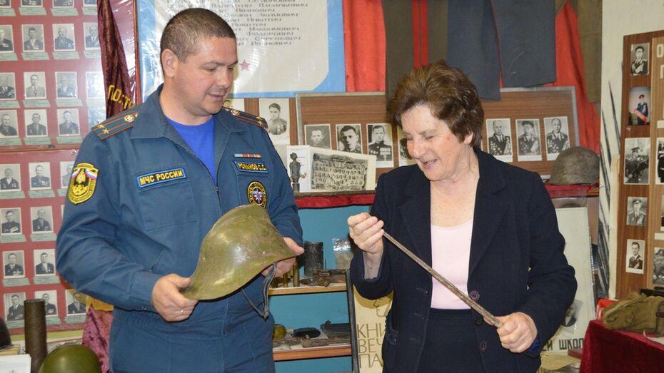Воробьевские пожарные подарили музею штык винтовки Мосина
