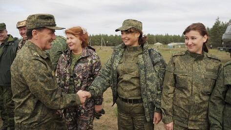 Воронежские чиновники поучаствовали в учениях на полигоне «Погоново»
