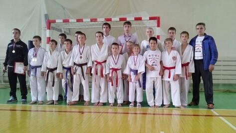 Хохольские школьники завоевали 20 медалей на областных соревнованиях по каратэ