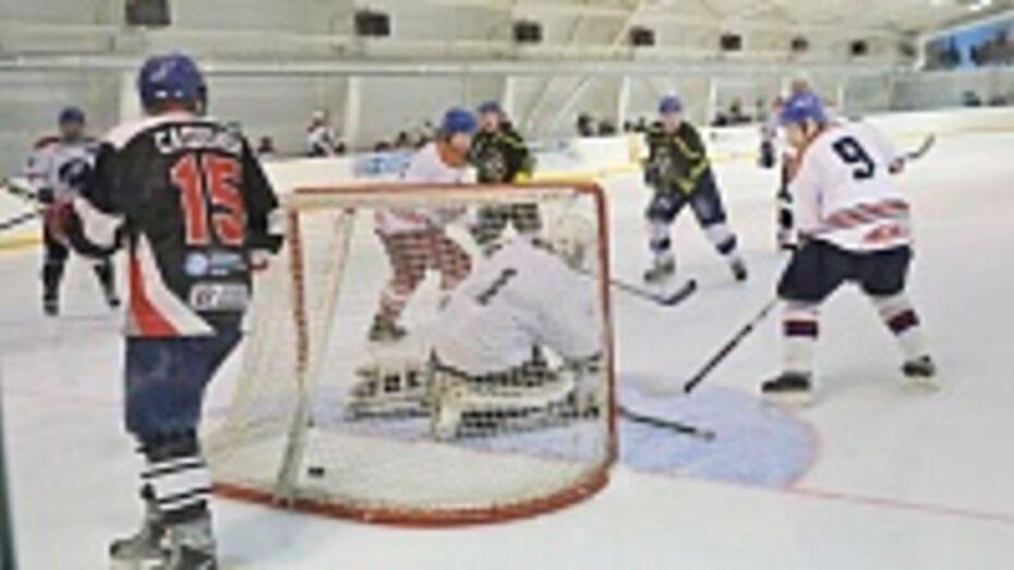 Команда Бобровского района обыграла в хоккейном матче сборную «Российская пресса»