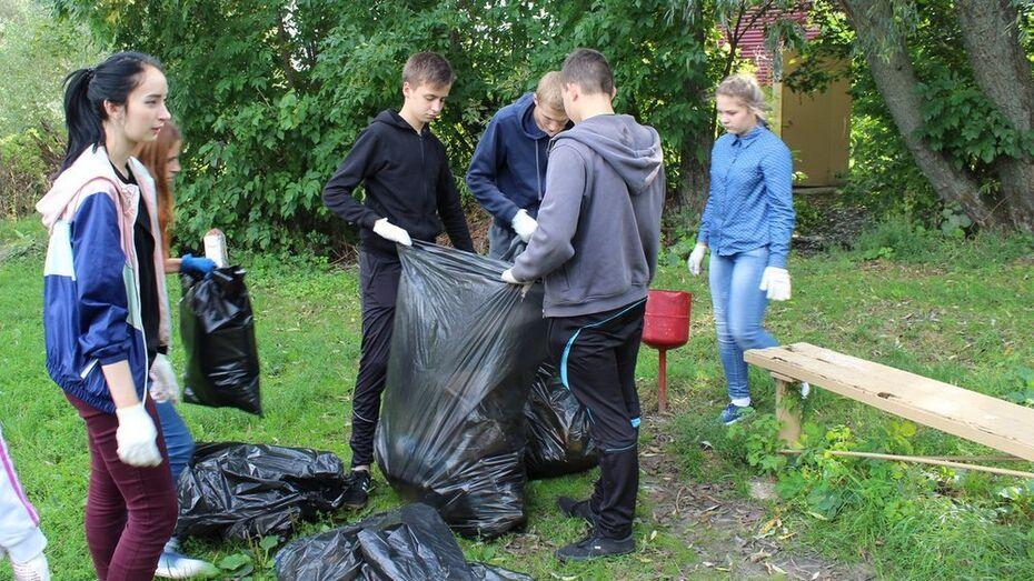 В Бобровском районе волонтеры убрали 6 городских пляжей
