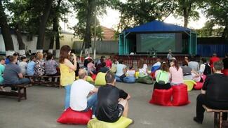 В поворинском селе Воронежской области сделали фан-зону для футбольных болельщиков