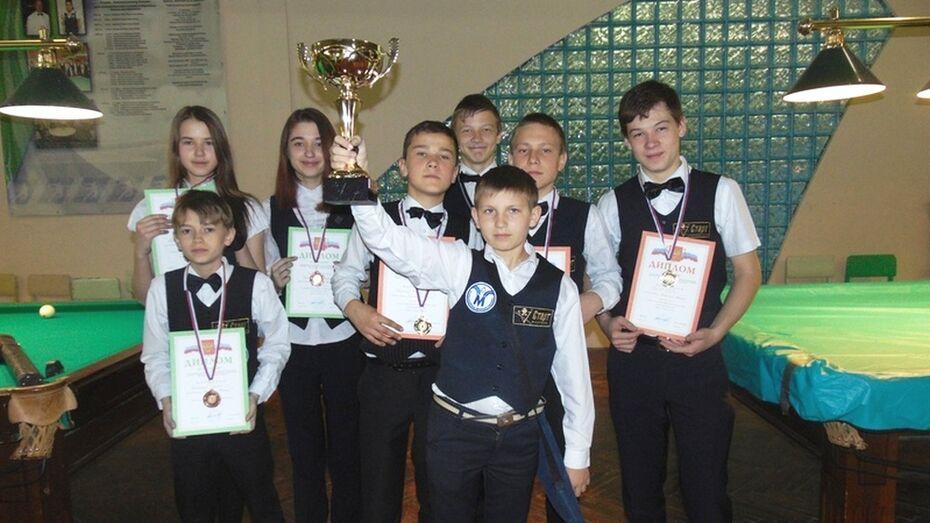 Бутурлиновские бильярдисты завоевали переходящий кубок областного турнира