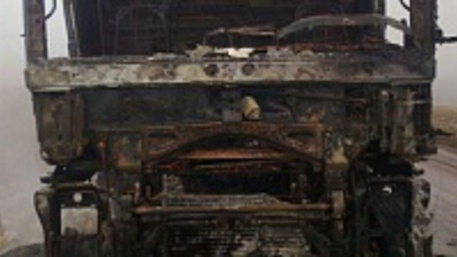 В Воронежской области на трассе сгорели два грузовика