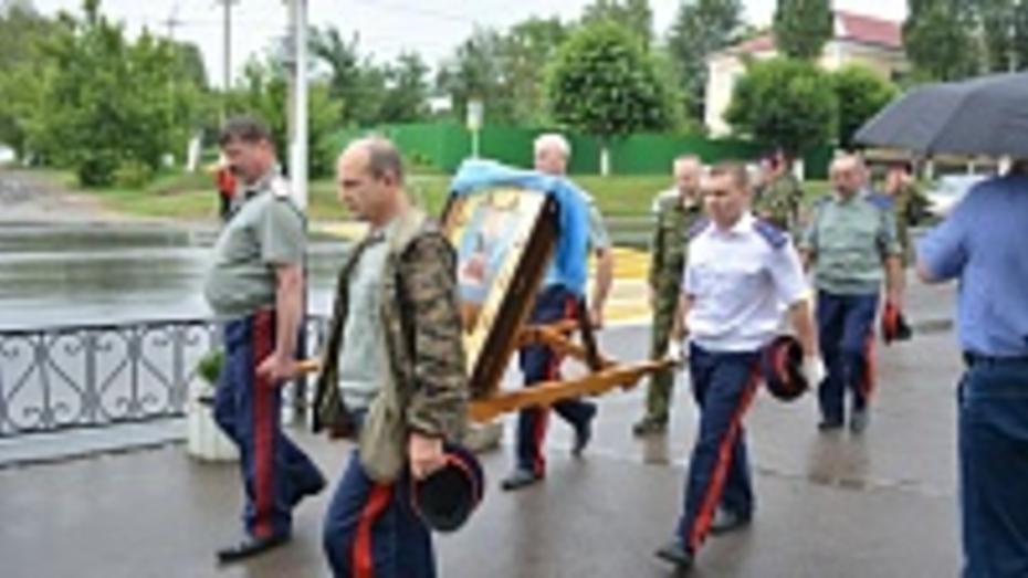 Через Острогожск прошел казачий крестный ход