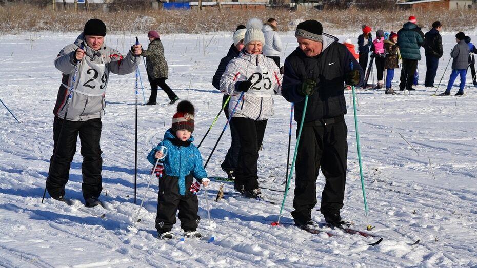 В Грибановке наградили победителей любительских лыжных гонок