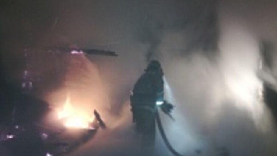 В Каширском районе на пожаре пострадал мужчина