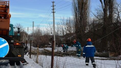 Ледяной дождь спровоцировал электроаварии в нижнедевицких селах