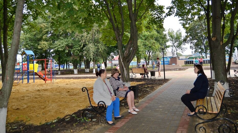 В бутурлиновском селе Кучеряевка благоустроили парк