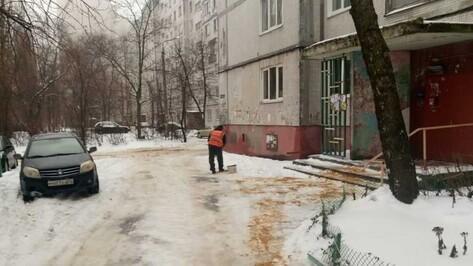 За сутки по скользким дорогам Воронежа рассыпали более 2,5 тыс т пескосмеси