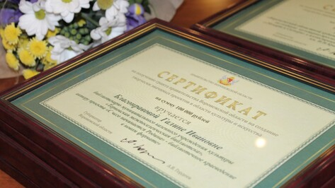 Деятели культуры получили гранты правительства Воронежской области