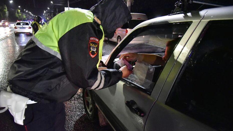 Охоту на пьяных водителей устроят воронежские инспекторы ДПС
