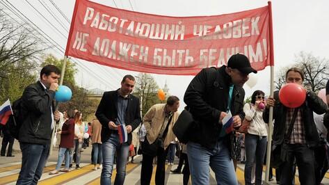 Воронежцы на первомайской демонстрации попросили достойных зарплат