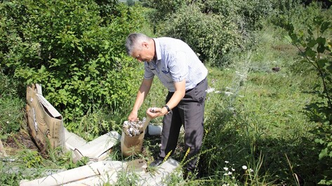 В Воронежской области неизвестные выбросили более 1 тыс люминесцентных ламп в яблоневом саду