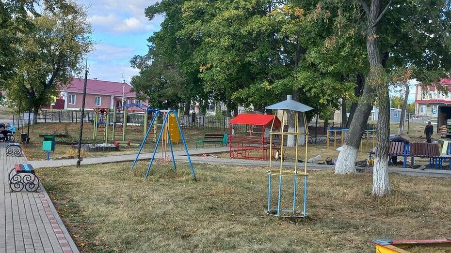 В двух нижнедевицких селах оборудовали детские площадки