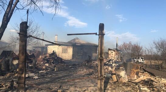 Из-за ландшафтного пожара загорелись 12 домов в воронежском селе