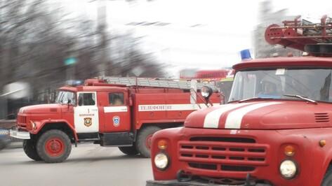 В Воронеже сгорел продуктовый павильон