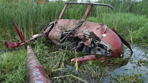 После падения вертолета под Воронежем без электричества остались жители двух сел
