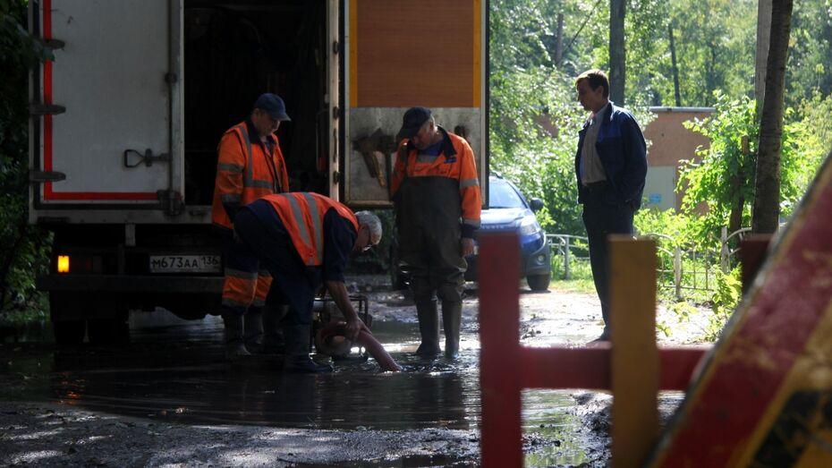 В Воронеже жильцы дома на Московском проспекте на сутки лишились воды из-за аварии