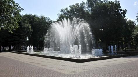 В Дни ВМФ и ВДВ фонтаны в центре Воронежа будут работать
