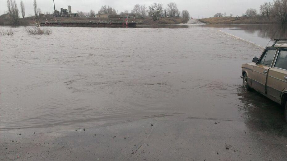 Из-за разлившегося Дона в Воронеже развели понтонный мост