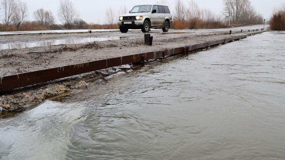 В Грибановском районе поднялась вода на реке Ворона