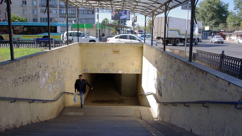 Компания «Делк» в Воронеже приведет в порядок подземный переход на Волгоградской