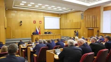 Депутаты приняли бюджет Воронежской области на 2019 год