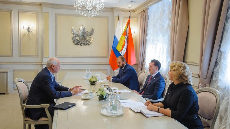 Губернатор и Алексей Волин обсудили проведение русско-японского медиафорума в Воронеже