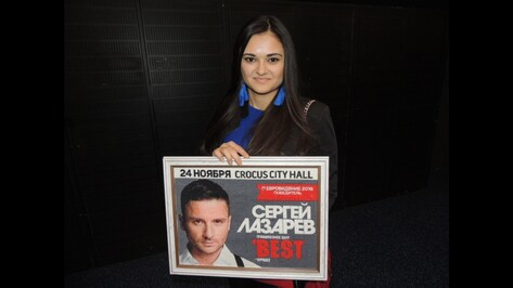 Воронежская студентка вышила портрет певца Сергея Лазарева за полгода