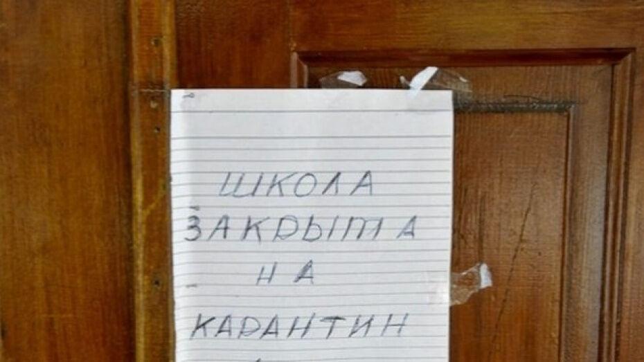 Маленькую сельскую школу в Воронежской области закрыли на карантин из-за вспышки ОРВИ