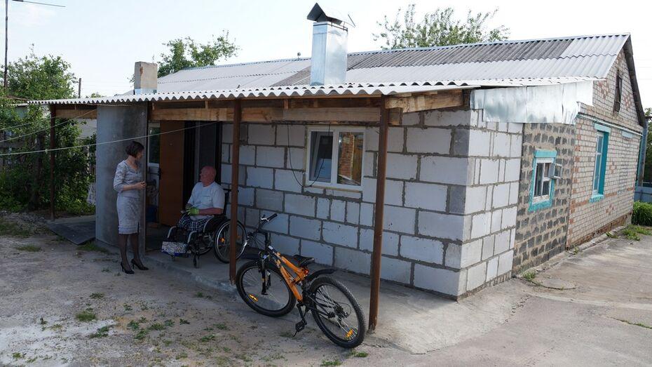 Семье инвалидов-колясочников из Богучарского района сделали пристройку к дому