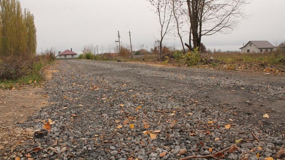 В хохольском селе Семидесятное впервые отремонтировали дорогу на двух улицах