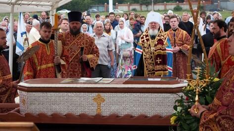 В Воронеж привезли мощи адмирала Федора Ушакова