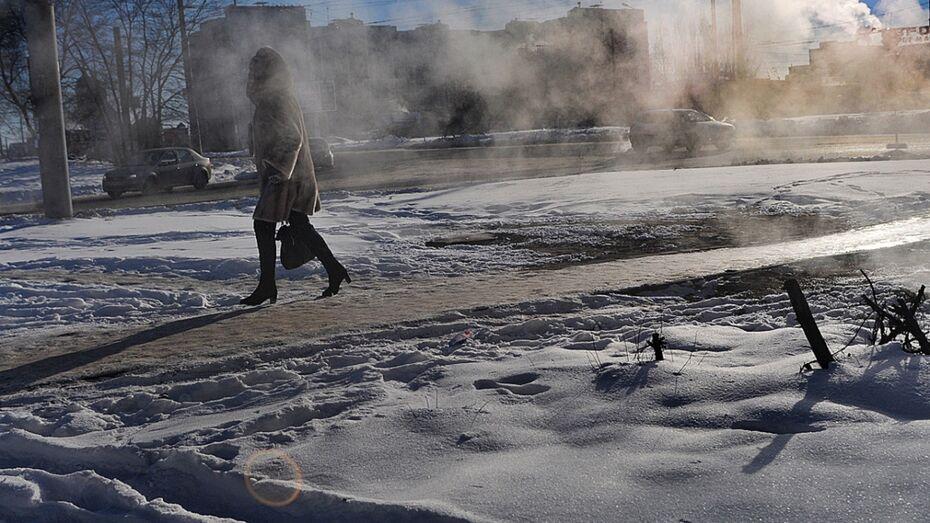 Метеорологи спрогнозировали аномальные морозы на длинные выходные в Воронеже