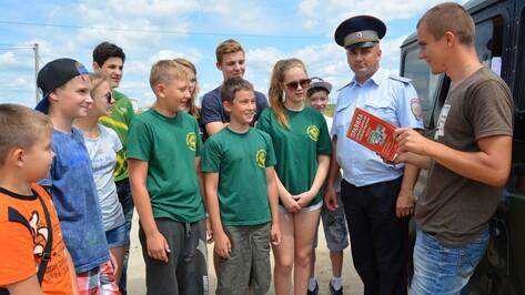В Россоши открылся лагерь юных инспекторов дорожного движения