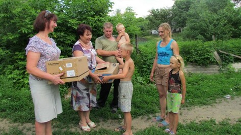 Многодетная семья из Нижнедевицкого района получила в подарок компьютер от областного правительства