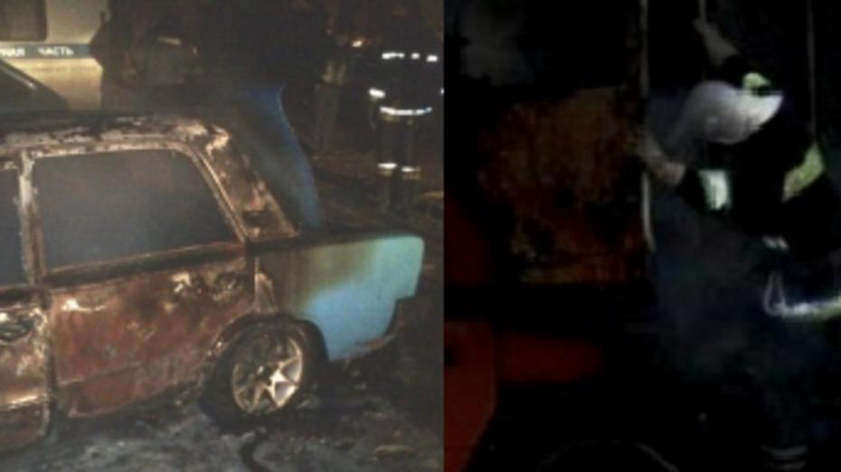 За ночь в Воронеже сгорели 2 машины