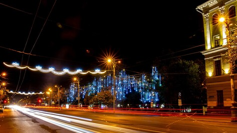 В Воронеже снова заработает праздничная иллюминация